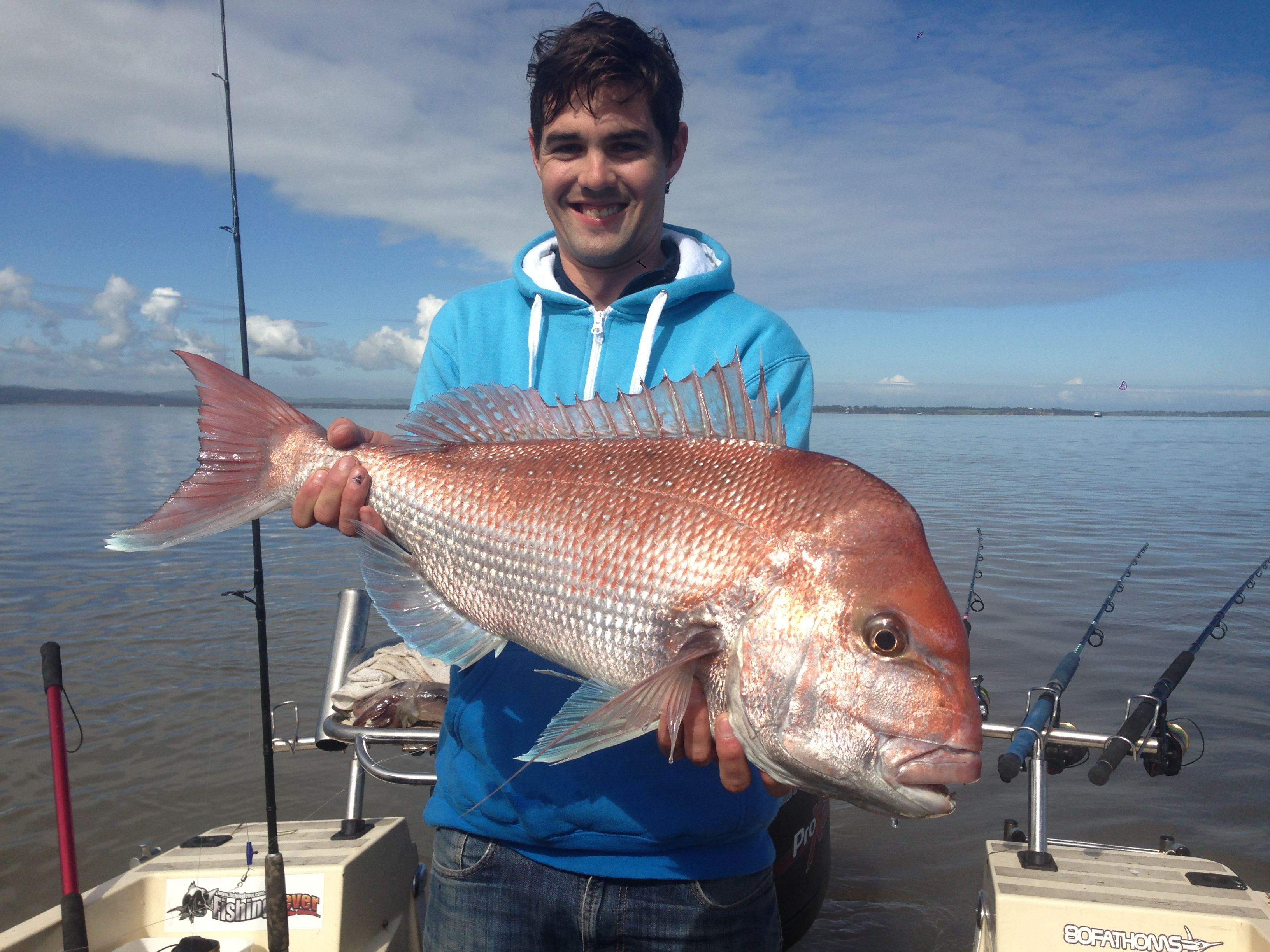Andy Donegan with a nice early season snapper taken on the Bluegum point GPS mark